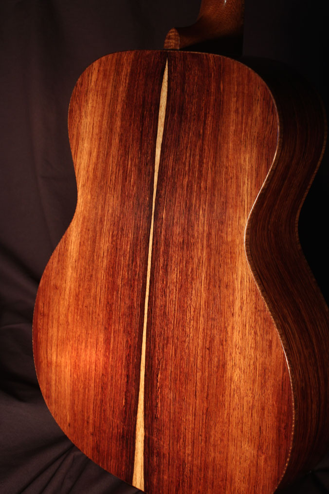 Guitar built by Kraus Guitars made with one of our Honduran Rosewood guitar sets.